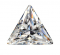 Cubic Zirconia - Triangle - White (PS)