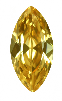 Cubic Zirconia - Marquise - Yellow (MS)