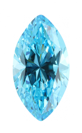 Cubic Zirconia - Marquise - Blue (MS)