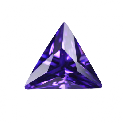 Cubic Zirconia - Triangle - Carmine (PS)