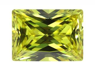 Cubic Zirconia - Rectangle - Olive Green (RECTP)