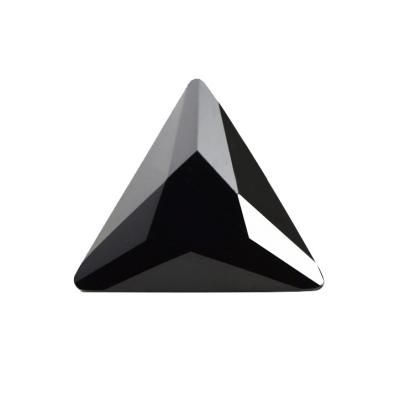 Cubic Zirconia - Triangle - Black (PS)