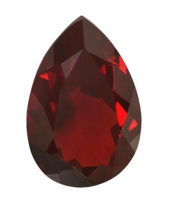 Synthetic Ruby - Corundum Pear - red #8 (PS)