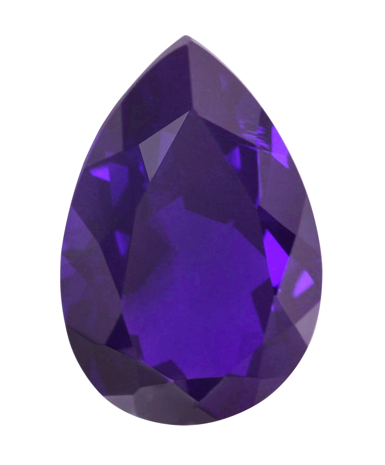 Cubic Zirconia - Pear - Purple A (PS)