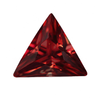 Synthetic Ruby - Corundum Triangle - red #8 (TS)