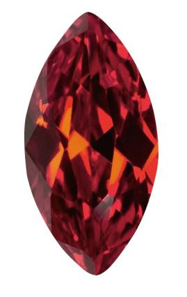 Synthetic Ruby - Corundum Marquise - red #8 (MS)