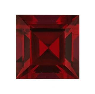 Synthetic Ruby - Corundum Square - red #8 (SQ)
