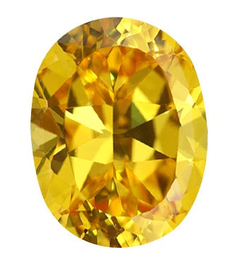 Cubic Zirconia - Oval - Yellow (OS)
